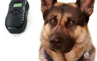 Elektronický VÝCVIKOVÝ OBOJEK pro psy s LCD displejem, s dosahem až 300 metrů! K dostání v barvě černé
