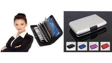 99,- Kč za luxusní kovový mini kufříček na kreditní karty, bankovky nebo vizitky pro pány a dámy ve čtyřech barevn...