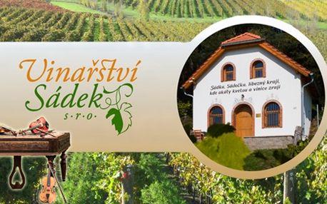 3 - denní vinařský privátní pobyt až pro 7 osob s degustací i živou hudbou!