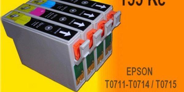 4ks kompat. náplní EPSON T0711-T0714 / T za 155 Kč