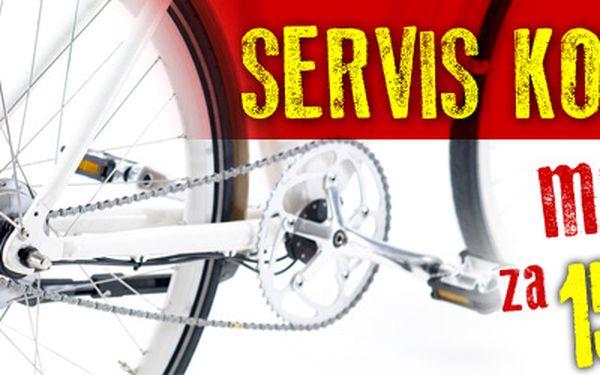 Malý profesionální servis vašeho kola - nechte si seřídit kolo v autorizovaném servisu s 60% slevou a připravte se na cyklovýlety!