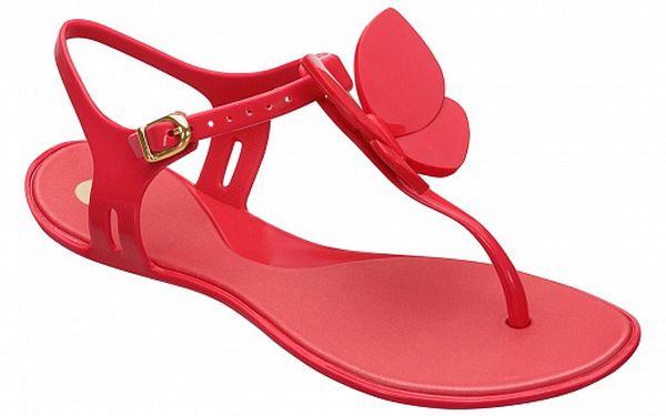 Dámské červené sandály Mel s motýlem