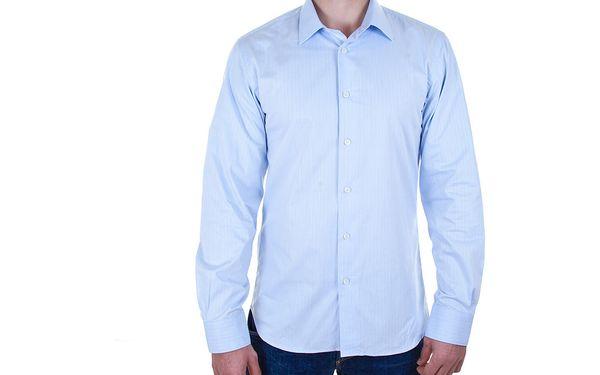 05 Pánská košile CK - jemné, světle modré proužky
