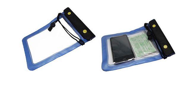 Univerzální voděodolné pouzdro chrání Váš telefon, tablet nebo doklady před vodou, vlhkostí a prachem - již žádné starosti na vodě!