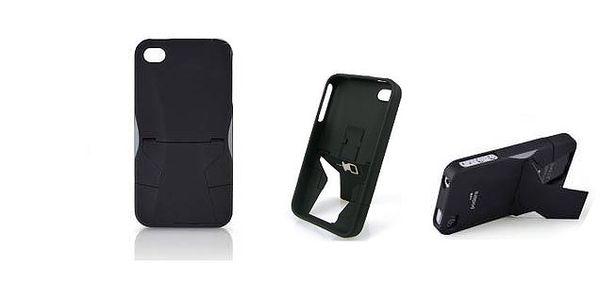 UNIKÁTNÍ zadní kryt APPLE iPhone 4G/4S s unikátním zadním vestavěným stojánkem umožňující položit telefon horizontálně nebo vertikálně!