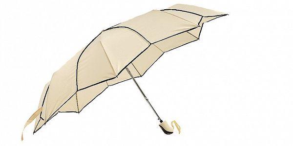Dámský vanilkově žlutý skládací deštník Ferré Milano s netradičně vykrojenými okraji do tvaru hvězdy