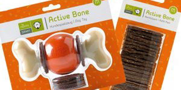 Hračka & žvýkací snack v jednom Set Active Bone + náhradní balení