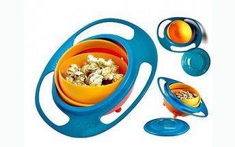 Pouhých 79 Kč za KOUZELNOU Gyroskopickou misku pro děti Gyro Bowl! Otáčejte misku dle libosti do všech stran, miska se nikdy nepřevrhne!
