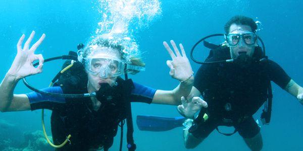 Potápění s instruktorem na volné vodě