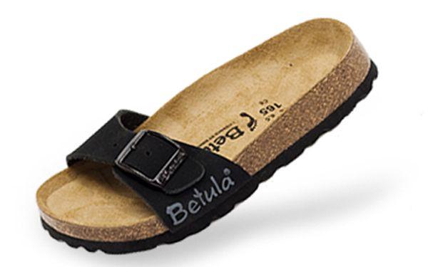 Dámské černé pantofle Betula v semišové úpravě