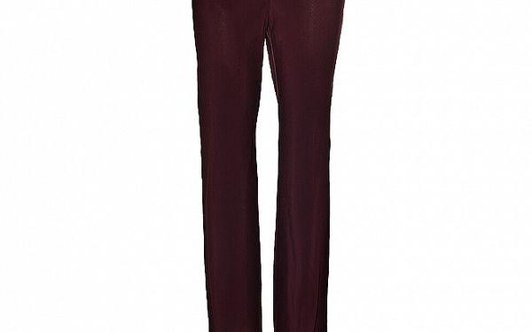 Dámské vínové hedvábné kalhoty Aniye By