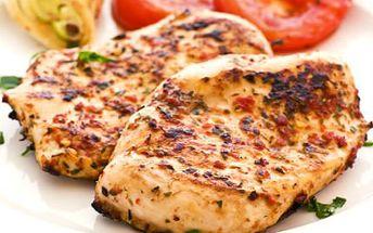 Zapečený kuřecí steak s mozarellou! K tomu hranolky nebo příloha dle výběru!