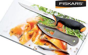 Sada nožů Fiskars na ryby! Sada obsahuje filetovací nůž a dvě speciální pinzety!