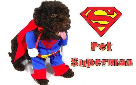 Obleček pro malá a střední plemena psů - Pet Superman - včetně poštovného! Udělejte ze svého pejska komixového hrdinu, který zaručeně pobaví Vaše přátele a strhne na sebe pozornost fotoaparátů... Možnost osobního odběru v Semilech nebo zaslání poštou! Sleva 51%!