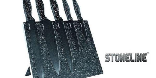 Sada 5 nožů Stoneline s magnetickým stojanem a s antibakteriální ochranou MicroStar