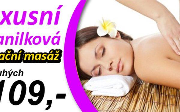 MASÁŽ dle Vašeho výběru za nejvýhodnější cenu co kdy byla! Relaxační masáž, Vanilková masáž, Klasická masáž nebo třeba Anticelulitidová masáž? Nejoblíbenější masáže současnosti za fantastickou cenu 109,- Kč (hodnota 450,- Kč)! Báječná nabídka se slevou 76% pro všechny milovníky masáží i pro ty, kteří na masáži ještě nikdy nebyli! Dopřejte si relaxaci na nejvyšší úrovni od profesionálů!
