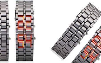 Svíticí ocelové náramkové hodinky!