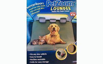 Pouhých 229 Kč včetně doručení za ochrannou psí deku do auta! Deka PETzoom Loungee ochrání zadní sedadla vašeho vozidla od špinavých tlapek a chloupků domácích mazlíčků!