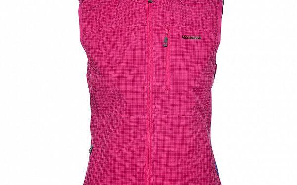 Dámská růžová softshellová vesta Envy s potiskem