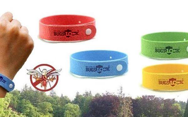 POUZE 45 kč za 4 kusy repelentní náramků Bugs Lock s výběrem barev včetně poštovného a balného v ceně poukazu!