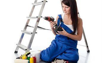 Praktické štafle s 5 schůdky! Výměna žárovky či malování pokoje nikdy nebylo tak snadné!