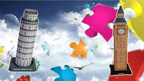 3D Puzzle - Big Ben nebo Věž v Pise! Přichází nová dimenze skládání puzzlů.