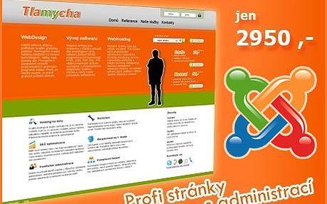 Moderní webové stránky s administrací. Nový profi web se slevou 80% slibovolným počtem podstránek, fotogalerií, kontaktním formulářem, FB propojení, multimedia.
