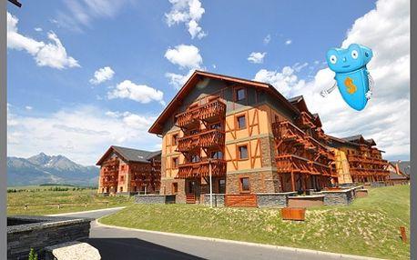 Vysoké Tatry, luxusní ubytování, 4 osoby, 4 dny, apartmán v Tatragolf Mountain Resorts**** Slovensko! Komfortní ubytování v nově vybudovaných apartmánových domech ve Velké Lomnici. Areál je v blízkosti golfového hřiště. Sleva na pobyt 65%!