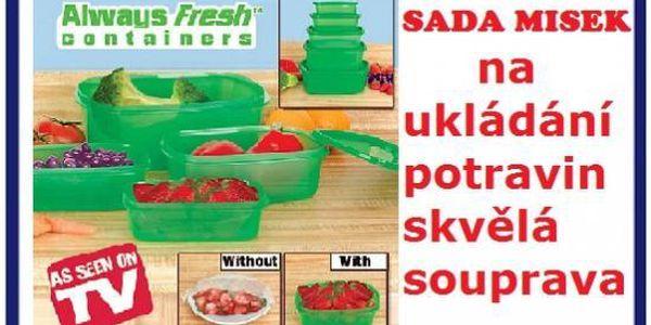 Sada misek 5kusu - freesh green až 20 dnů čerstvé ovoce doma za 189kč poštovné je zdarma