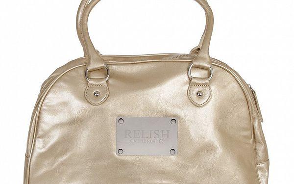 Elegantní zlatá kabelka