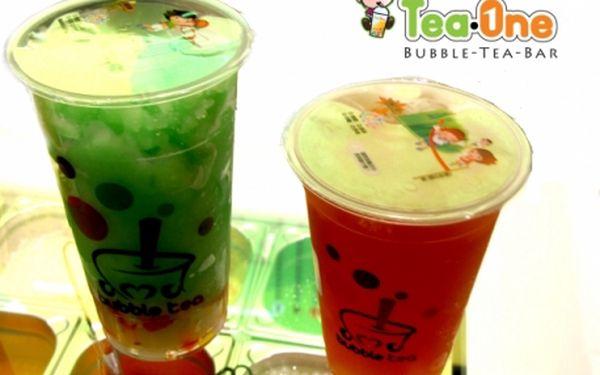 Senzační světová novinka bubble tea! Veškeré bubble nápoje v tea-one v oc palladium či na václaváku s 50% slevou!!!