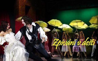 """Nejslavnější filmový muzikál všech dob """"ZPÍVÁNÍ V DEŠTI"""" se dočkal i libereckého divadelního zpracování! Vstupenka na představení, ktré nabízí skvělou hudbu, známé písně a brilantní taneční čísla jen za 140 Kč!"""
