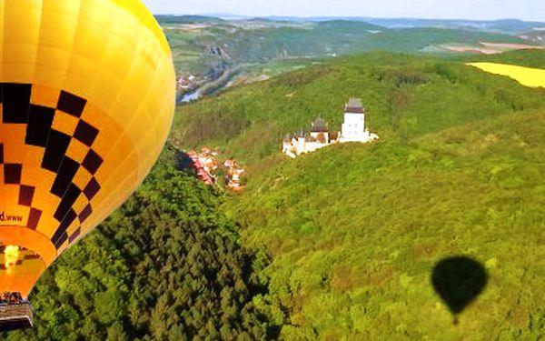 Hodinový let jedním z největších balonů ve střední Evropě