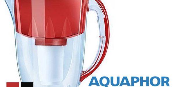 Filtrační konvice Aquaphor a dva filtry – objem 3 litry, v černé nebo červené barvě