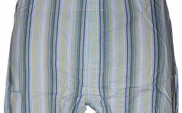 Pánské světle modré slim fit trenýrky Calvin Klein s barevnými proužky