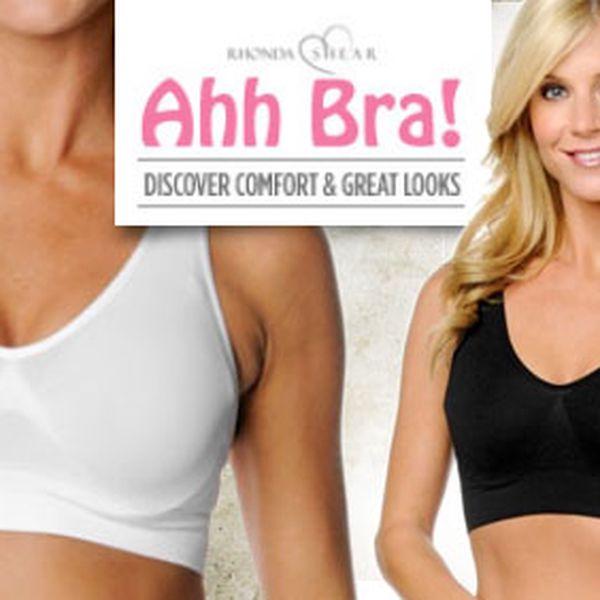 Perfektní, krásné a zpevňující podprsenky Ahh Bra za 199 Kč s HyperSlevou 50 %. V balení po 3 kusech v černé, bílé a tělové barvě.