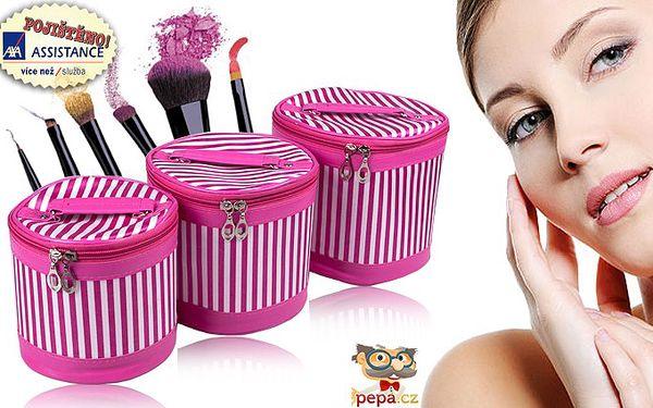 Kosmetické kufříky – 3 dílná sada pro přehledné uspořádání kosmetiky. Výběr z barevných variant.