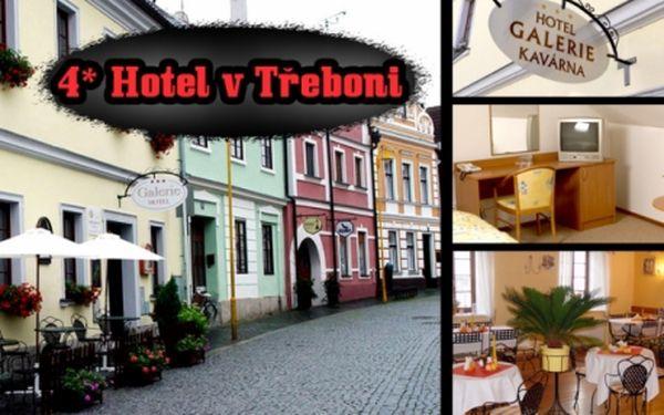 Hotel v Třeboni****!! 3denní pobyt pro DVA vč. polopenze, relaxační masáž pro oba a láhev vína ZDARMA! Možnost prodloužení pobytu dle Vašich představ!! Dítě do 3 let ZDARMA!