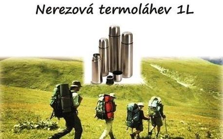 Nerezová cestovní termo láhev, udrží nápoje v sprá...