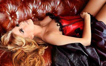 Korzety s erotickým nádechem! Černý, černo-červený nebo bílý s krajkou!