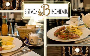 Vychutnejte si snídani ve stylovém bistru Bohemia v centru hlavního města Praha