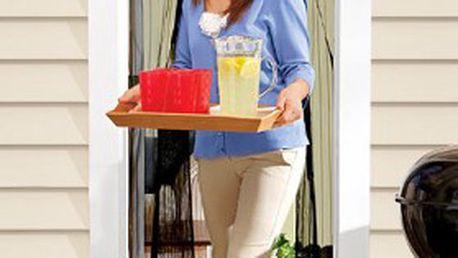 Samozavírací MAGNETICKÁ SÍŤKA proti hmyzu, vyrobena z polyesterového vlákna, určena do dveří na terasu, balkon a zahradu!