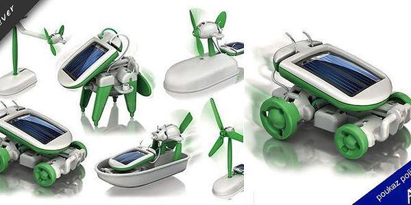 Pořiďte svým dětem již nyní naučnou hračku SolarBot 6v1. Jde o solární stavebnici nové generace pro malé i velké. Ideální hračka, která spojuje zábavu se vzděláním.