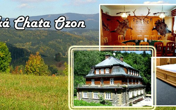 3 - denní pobyt pro dva s polopenzí v Horské Chatě Ozon!