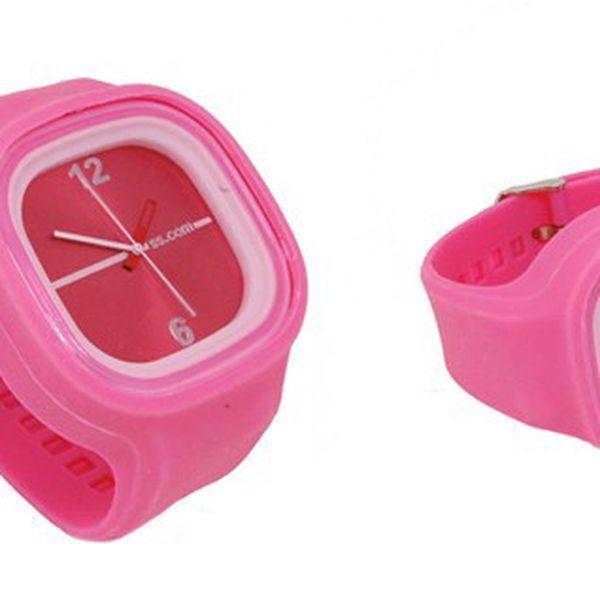 JELLY silikonové hodinky v růžové barvě za 99 Kč, elegantní a praktické analogové hodinky pro muže i ženy!