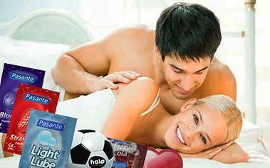Sexy balíček pro žhavé chvilky – obsahuje 55 kondomů, 2 lubrikační kroužky a 3 lubrikační gely. Vše, co potřebujete mít!