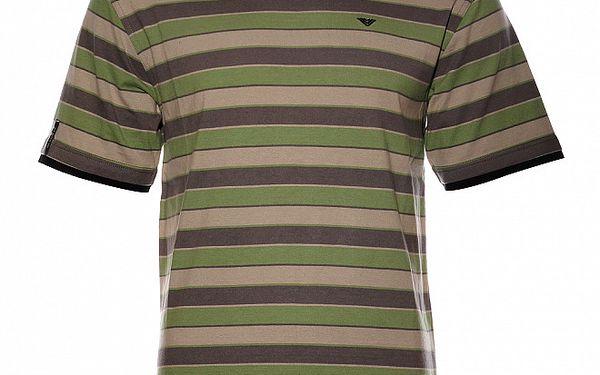 Pánské zelenošedé proužkované tričko Bushman
