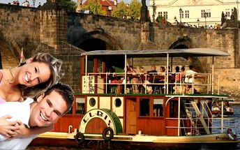 Hodinová plavba centrem Prahy! V ceně pití dle výběru!