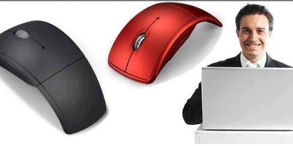 Bezdrátová skládací optická myš na cesty i do kanceláře !