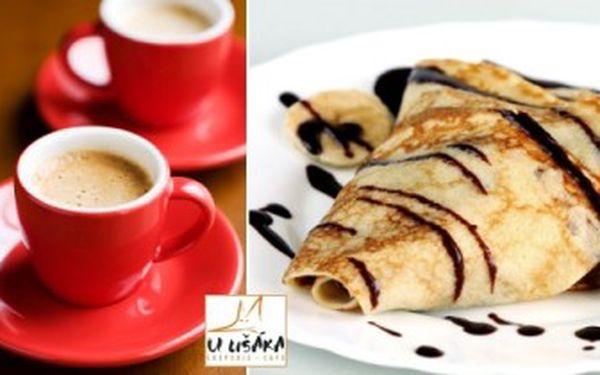Lahodných 99 Kč za 2 výborná ESPRESSA značky Coffee Source a 2 tradiční FRANCOUZSKÉ CREPES s nuttelou a banánem. Těšte se na SLADKÉ DOBROTY v kavárně a creperii U Lišáka v Hradci Králové se slevou 51 %!
